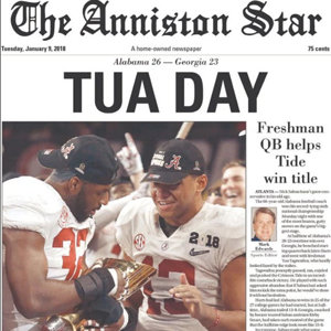 National Title edition:  The Anniston Star