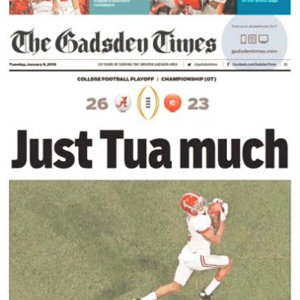 National Title Edition:  Gadsden Times