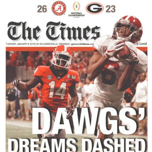 National Title Edition:  GA The Times