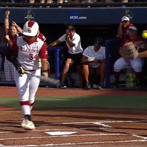2016 NCAA Softball WCWS - game #3 - Oklahoma vs Alabama