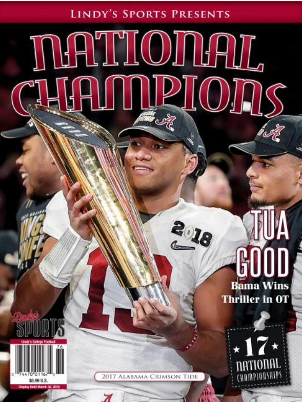 Lindy's National Championship edition.